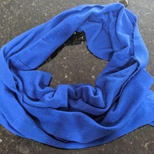 "Blue scarf, 66"" long"